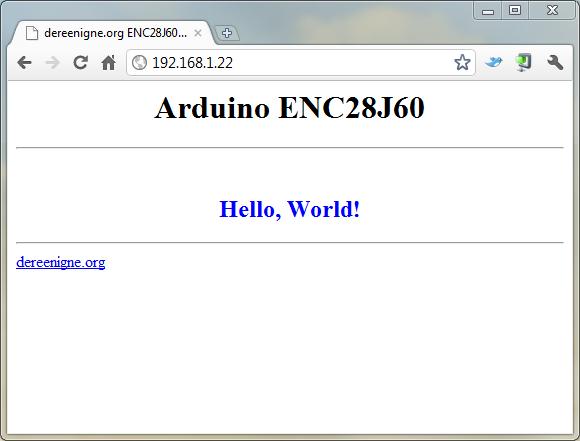 ENC28J60 Ethernet Breakout Board | dereenigne org