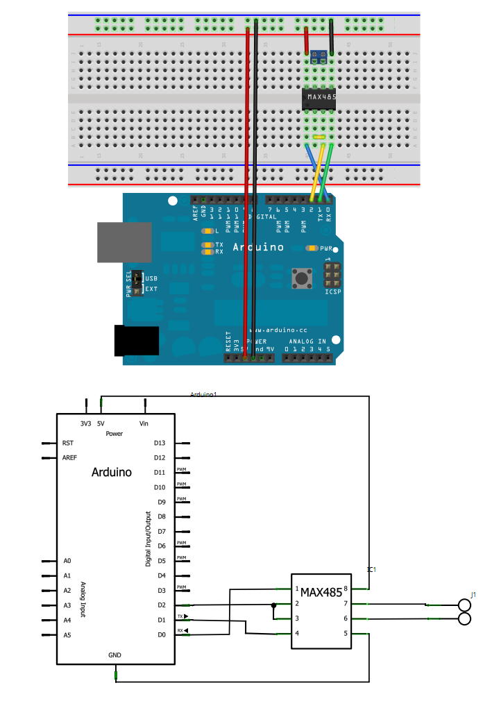 modbus using max485 to interface energy meter with arduino RS 485 Pinout Diagram at bakdesigns.co